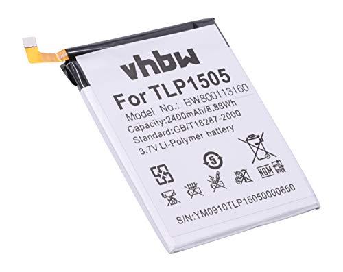 vhbw Li-Polymer Akku 2400mAh (3.8V) für Handy Smartphone Handy Wiko M531, Ridge, Ridge 4G, Ridge Dual SIM LTE wie TLP1505.