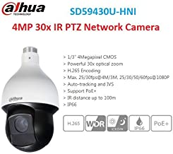 DH IP Camera SD59430U-HNI 4MP 30x IR PTZ Network Camera Support PoE+ Auto-Tracking and IVS English Version
