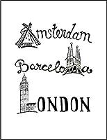 【FOX REPUBLIC】【アムステルダム バルセロナ ロンドン】 白マット紙(フレーム無し)A4サイズ
