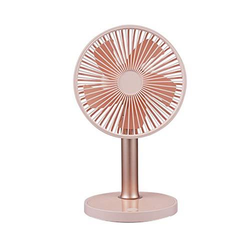 Qiekenao Mini Handheld Ventilator, Usb Oplaadbare Batterij Meter Verstelbare Ventilator Draagbare Ventilator met Led Light, 17x15x30.1CM, roze