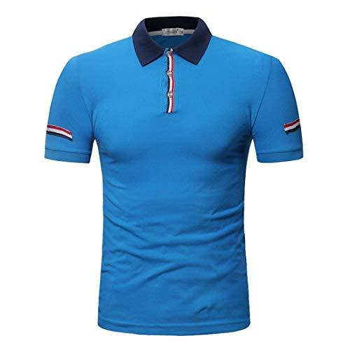 HaiDean Polohemd voor heren, zomer, casual, modernas, elastisch, korte mouwen, revers daily, casual, poloshirt, pique, T-shirt, tops, basic