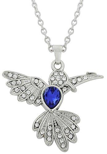 Lemegeton Halskette mit Kolibri-Anhänger aus Kristall für Frauen und Mädchen, Tiergeschenk, Schmuck