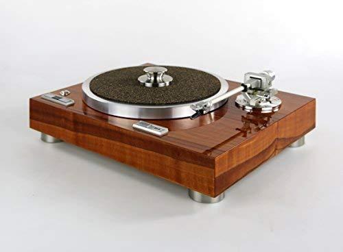 Restaurierter & Modifizierter Kenwood KD 770D Plattenspieler mit Edelholzfurnier und Hochglanz-Lackierung
