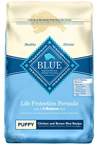 Blue Buffalo Life Protection Formula Puppy Dog Food – Natural Dry Dog Food for Puppies – Chicken and Brown Rice – 15 lb. Bag