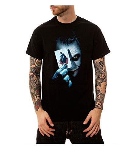ZKPNTX Camiseta Estampada Payasos De Póker De Payaso para Hombre De Summer Street Camiseta Larga L Negra Camisetas
