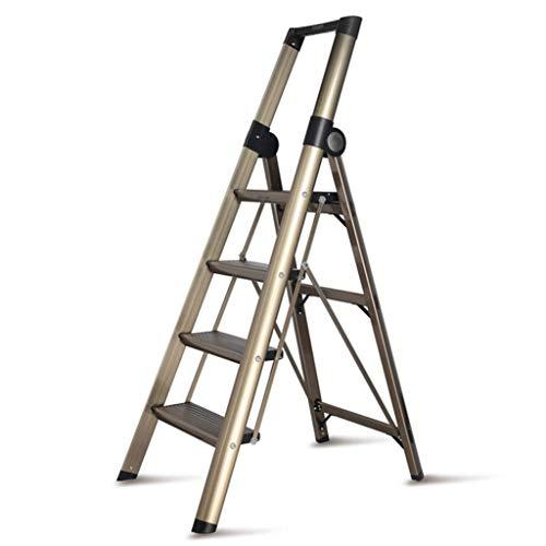 GUOXY Multifunktions-Multi-Position Leiter Teleskopleiter Stufenleiter Teleskopverlängerung Folding Trittleiter Multi-Purpose Zusammenklappbarer Leiter Treppenstehleiter Scaffold Leitern Für Outdoor