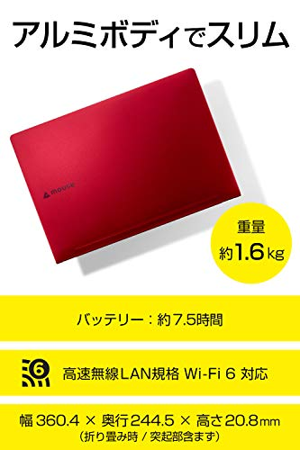 mouseノートパソコン15.6型MB-CR78SHZI/Corei710510U/8GB/256GB/Win10
