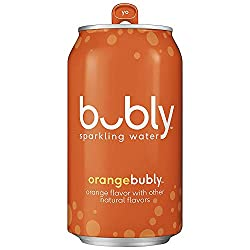 bubly sparkling water orange flavor