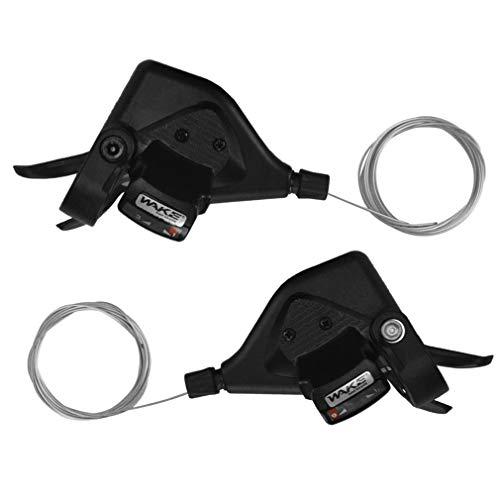 FOMTOR 3x9 Fahrrad Schalthebel Set 27 Gang Mountain Shifter Links Rechts Shifter mit Kabel für Mountainbike Faltrad (1 Paar) (3x9 Schalthebel 27 Gang)
