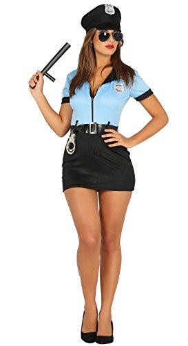 Guirca- Disfraz adulta policía, Talla 42-44 (88296.0) , color/modelo surtido