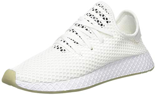 adidas Deerupt Runner, Zapatillas para Hombre, Blanco (Footwear White/Core Black/Sesame 0), 43 1/3 EU