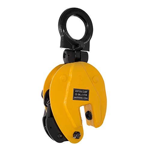 BestEquip 2T Plate Clamp 4409Lbs Plate Lifting Clamp Jaw Opening 0.6 inch Vertical Plate Clamp for Lifting and Transporting