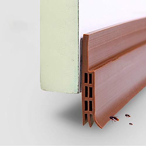 WeTest - Tira de sellado para puerta (silicona), Marrón, 1