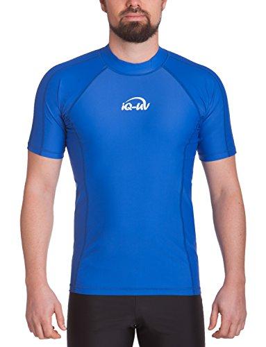 iQ-UV Herren UV 300 Slim Fit Kurzarm T-Shirt, blau (Dunkelblau), XL (54)