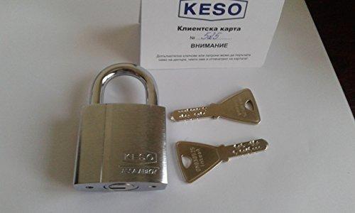 KESO(Assa Abloy) 22.037. Vorhängeschloss/ Keying Platform 2000S /2 Schlüssel/ Sicherungskarte