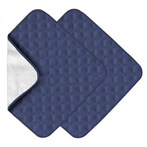 gerFogoo 2pcs / Set Groß Saugfähig Waschbar Inkontinenz Sessel Stuhl Schutz Pad Blatt rutschfest Wasserfest Underpads für Erwachsene Kinder Haustier Matte - 56X53cm - Blau