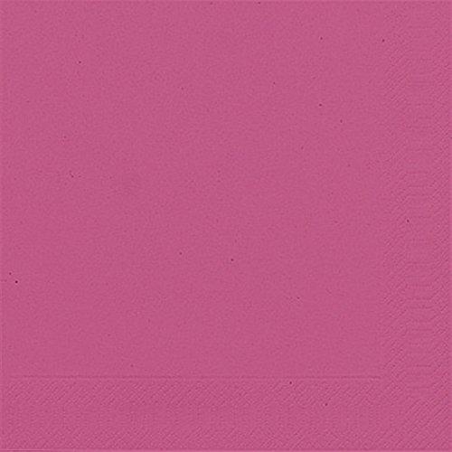 Duni Servietten 3lagig Tissue Uni fuchsia, 33 x 33 cm, 20 Stück