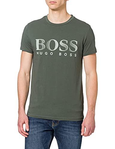 BOSS T-Shirt RN Camiseta, Verde (Dark Green 304), Large para Hombre