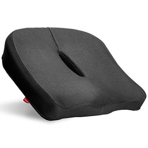 【Amazon.co.jp 限定】 チチロバ(TITIROBA) 座布団 クッション 低反発クッション 椅子 車 大きめ 分厚い オフィス 洗えるカバー 滑り止め 蒸れない ブラック YF-01