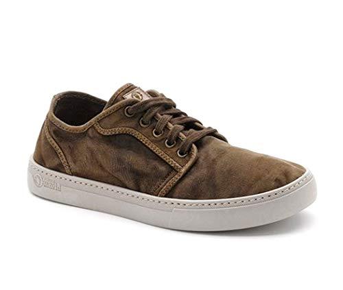 Natural World Eco -6602E Natural World Herren Sneaker – 100% EcoFriendly - Getreide-Kaffee - Größe: 45 EU