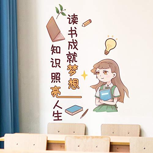 Qingyu muurstickers, motief: mooi meisjes en lang haar, om zelf te maken, muurstickers voor kinderkamer