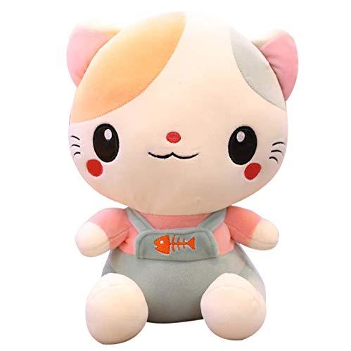 Knuffel, Kat Pluche Kussen Kussen Vulling Home Decor Doll Lachend Gezicht Cartoon Knuffels Geschenken 25cm grijs