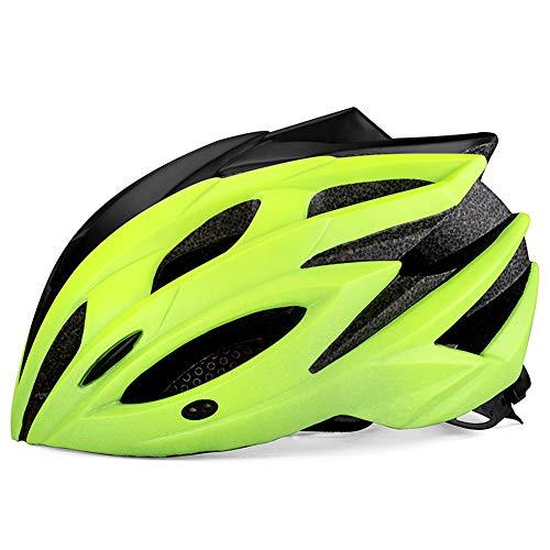 Fahrradhelm Licht und kühle Art und Weise Fahrrad einstellbare Größe geeignet für Erwachsene Männer/Frauen dauerhaft sichere und Gute Belüftung komfortabel und bequem,Grün,M