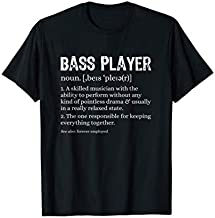 Bass Player Definition Bassist Gift for Musicians T-Shirt