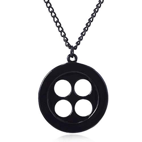 Botón Negro Llave Calavera Collar Colgantes Magic Santa Key Gargantilla Kingdom Hearts Hombres Joyería Regalo PureGoldColor