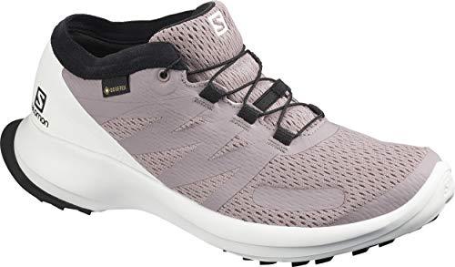 Salomon Damen Shoes Sense Flow GTX Laufschuhe, Mehrfarbig (Wachtel/Weiß/Kirschtomate), 42 2/3 EU