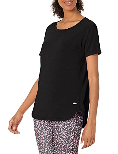 Amazon Essentials Studio Relaxed-Fit Crewneck T-Shirt Fashion, Noir, Medium