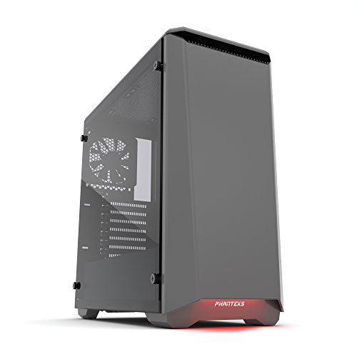 """Phanteks Eclipse P400 Steel ATX Mid Tower Hülle Anthracite Grey, """"Tempered Glass"""" Edition"""