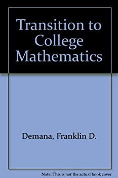 Transitions to College Mathematics, Revised Printing 0201515237 Book Cover