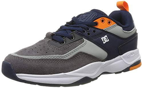 DC Shoes (DCSHI) E.tribeka-Shoes for Boys, Chaussures de Skateboard Homme, (Grey/Dark Navy), 39 EU