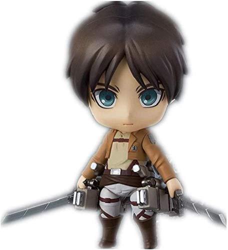 LJXGZY De Handmade Attack On Titan Figura Eren Jaeger Figura Anime Chibi Figura Coleccion Decoracion Modelo Regalo de cumpleanos Estatua