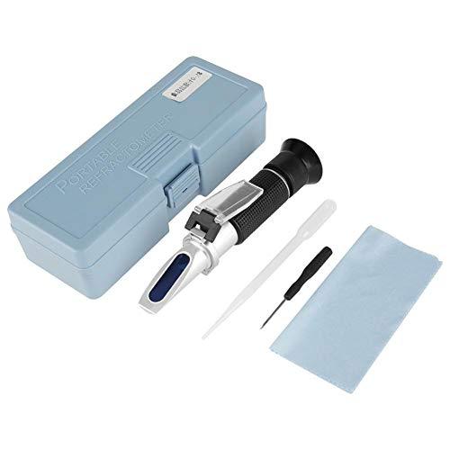 Brix-Salinometer Profesional, ractómetro de sal manual 0-28% Medidor portátil para el contenido de sal de los alimentos para azúcar/alimentos/frutas/bebidas/miel/cerveza vino