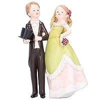工芸品の置物、カップルの結婚式の工芸品、ギフトの装飾のための高品質の手磨き耐久性(26306B-3)