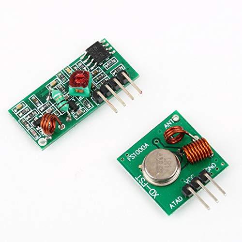Zinniaya - Kit de transmisor y Receptor RF para Mando a Distancia Arduino/Arm/MC U