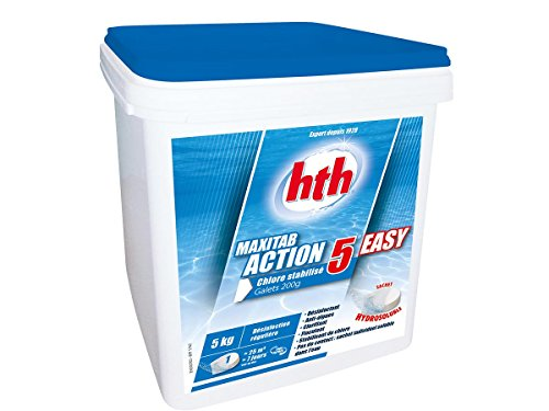 Hth - Maxitab Chlore multifonction en galets - 5 kg
