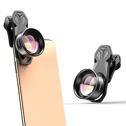 Apexel Obiettivo della Fotocamera del Telefono HD-Teleobiettivo 2X {Lente Verticale} per iPhone, Pixel, Huawei, Xiaomiand Telefoni cellulari Samsung Galaxy