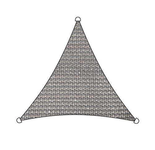 Toldo Vela Triángulo Bloque UV Permeable Durable para Al Aire Libre Piscina Patio Cubierta Pérgola Quitasol TIDLT (Color : Gray-4.8x4.8x4.8m)