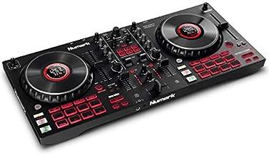 Numark Mixtrack Platinum FX - DJ Controller For Serato DJ with 4 Deck Control, DJ Mixer, Built-in Audio Interface, Jog Wheel Displays and FX Paddles