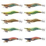 Shaddock - Señuelos de Calamar, 10 Unidades, señuelo...