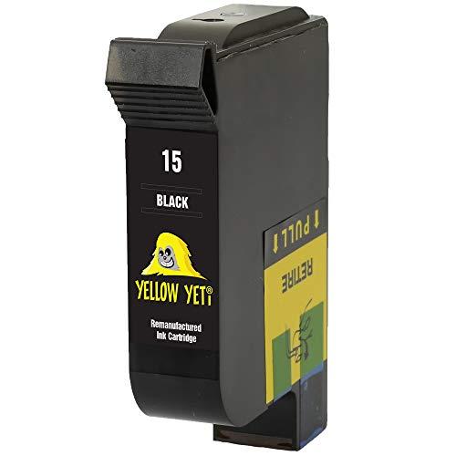 Yellow Yeti Remanufacturado 15 Cartucho de Tinta Negro para HP Deskjet 816c 825c 827 840c 841c 842c 843c 845c 845cvr 848c [3 años de garantía]