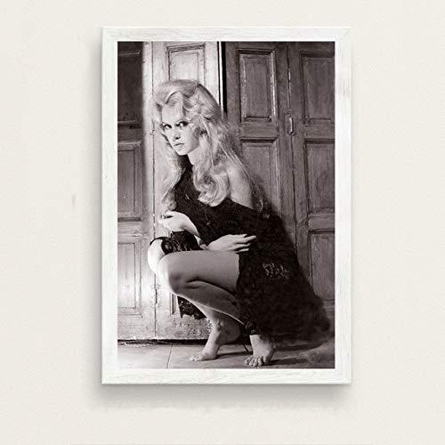 yaofale Kein Rahmen Heiße Brigitte Bardot Filmstar Schauspielerin Modell Kunst Malerei Seide Leinwand Poster Wand Wohnkultur obrazy Plakat 60x90cm