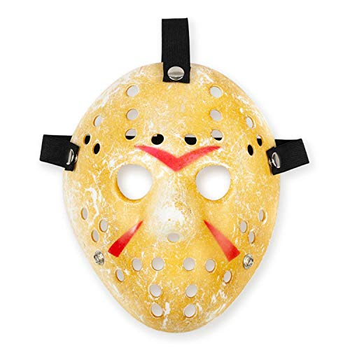 Friday The 13th Scary Costume  Jason Voorhees Mask Classic Version Yellow