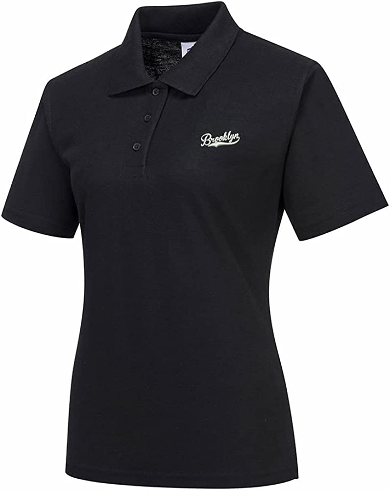 Polo Shirts for Women, Brooklyn Embroidery Women's Polo Shirts