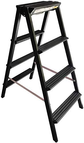 Escalera de Aluminio, La Escalera del hogar, Luz Peso 3 Kg, Escalera Plegable multipropósito en ambas Caras (Size : 46 * 74 * 108CM): Amazon.es: Hogar