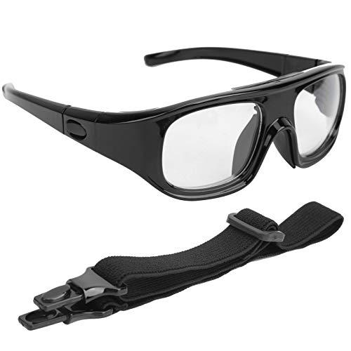 Gafas de Seguridad Gafas Protectoras PC Resistente A La PC Deportes Baloncesto Gafas De Baloncesto Extraíble Montaje En La Cabeza Montañamiento Ciclismo Gafas Protectoras Negro