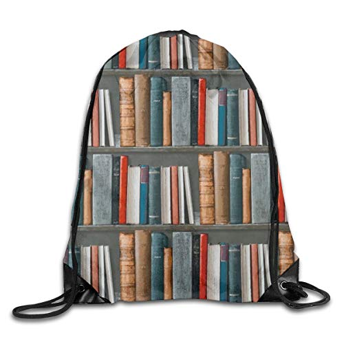 Ripped Drawstring Pack Book Art Beam Mouth Gym Sack Rucksack Waterproof Shoulder Bags For Men & Women